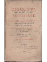 Discours fait en une célèbre assemblée par le Chevalier Digby